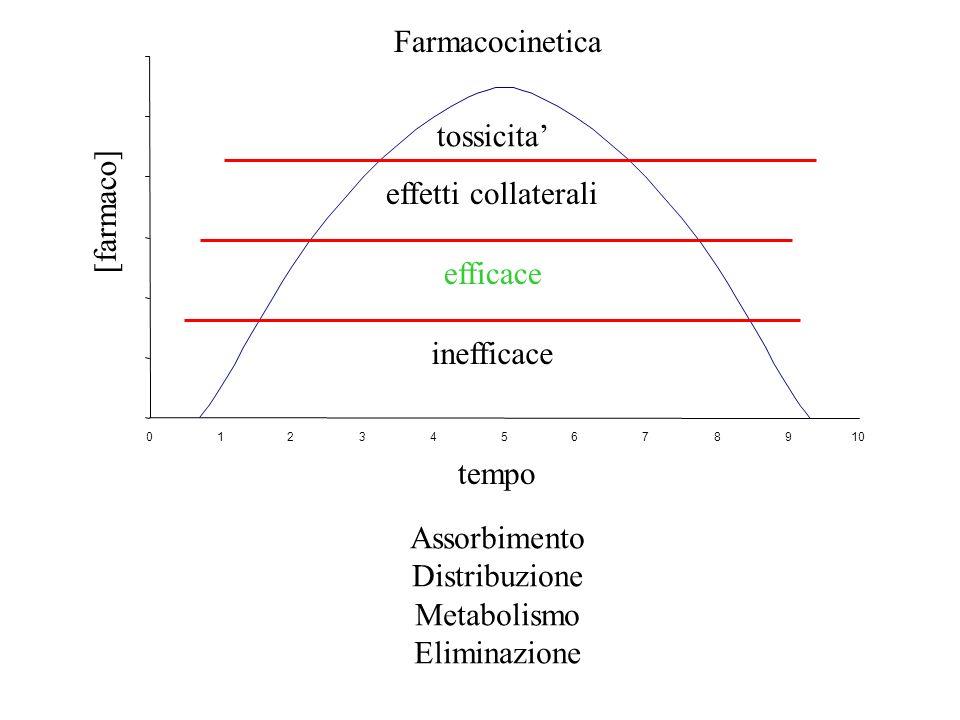 Farmacocinetica tossicita' [farmaco] effetti collaterali efficace